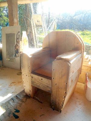 prototype d un fauteuil club en palette